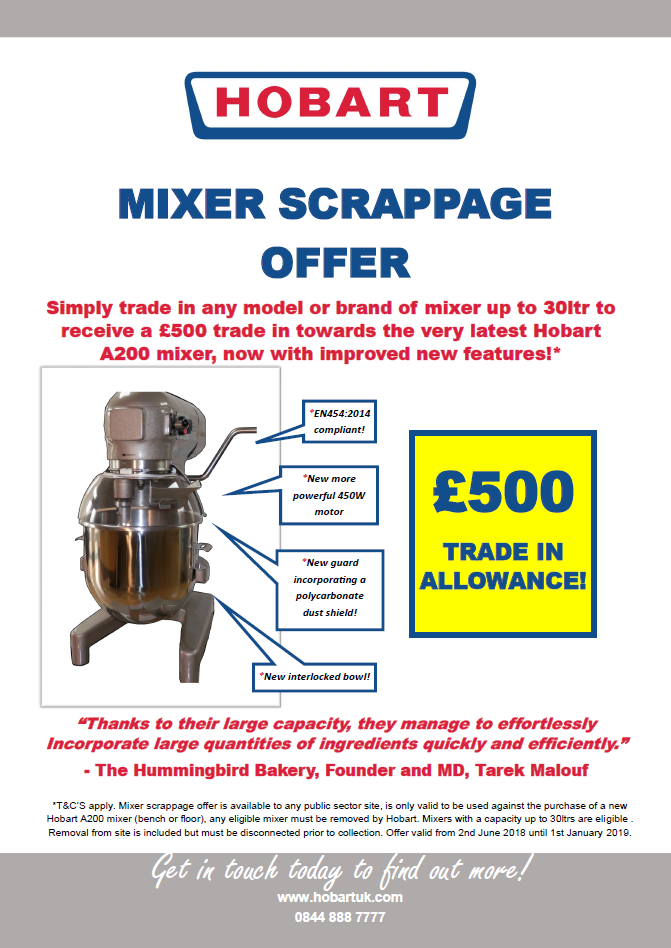 Hobart Mixer Scrappage Offer