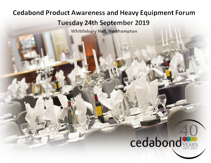 The Cedabond Forum is nearly fully booked